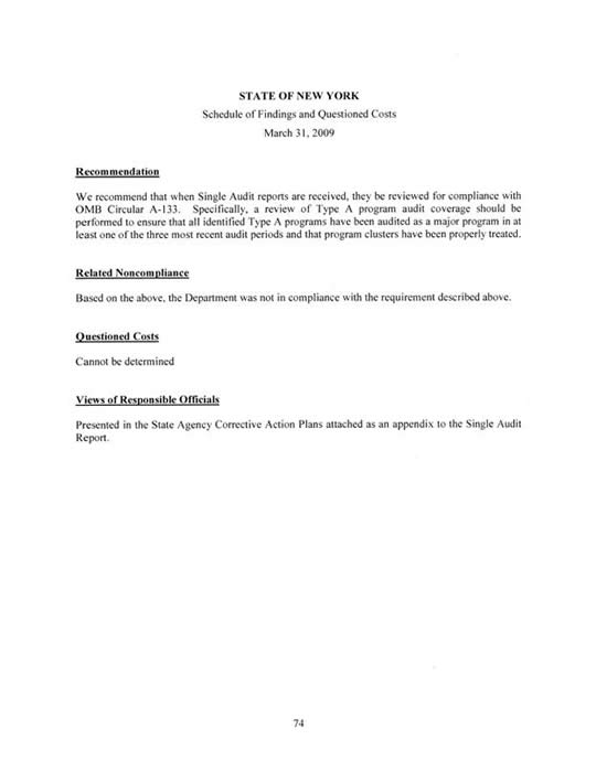 Audit Report Abstracts March 2010